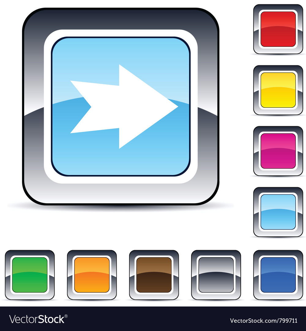 Forward arrow square button vector | Price: 1 Credit (USD $1)