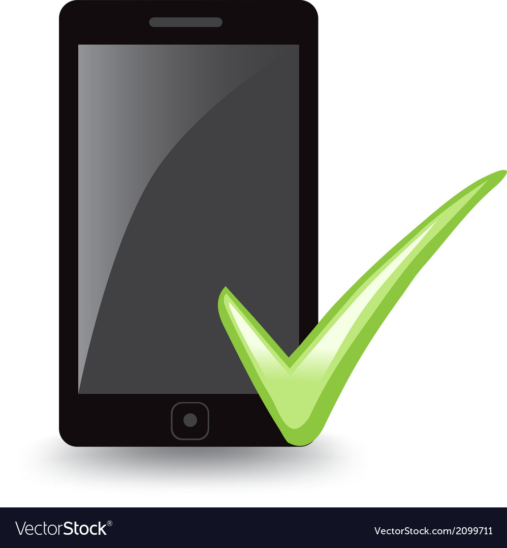 Phone check vector | Price: 1 Credit (USD $1)