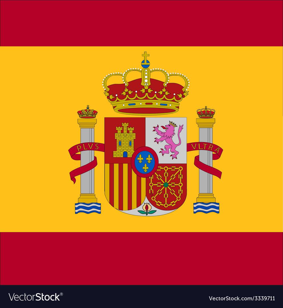Spain flag vector | Price: 1 Credit (USD $1)