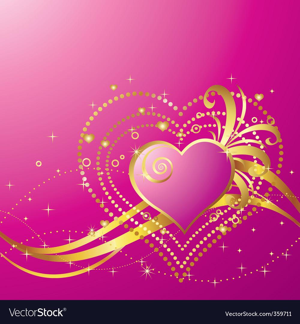 Valentine's day background vector | Price: 1 Credit (USD $1)