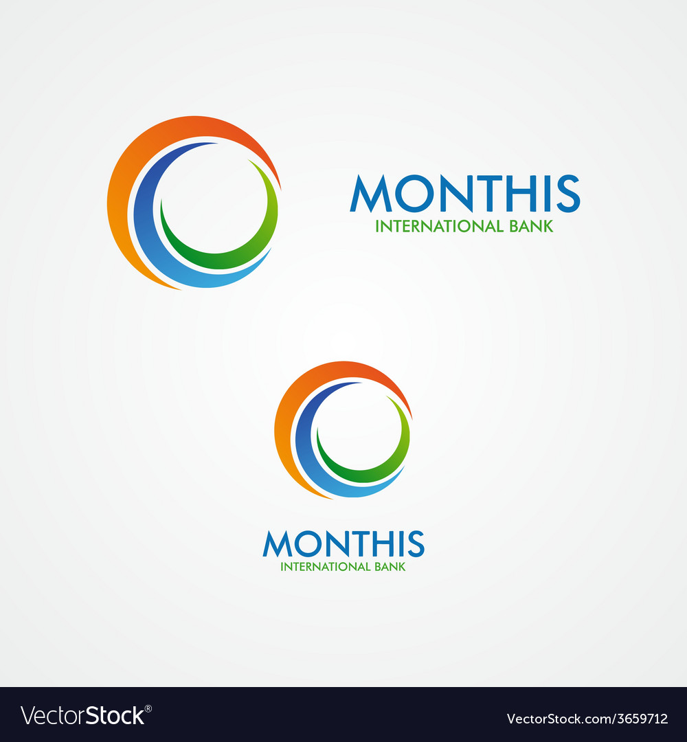 Abstract month or sun logo vector | Price: 1 Credit (USD $1)