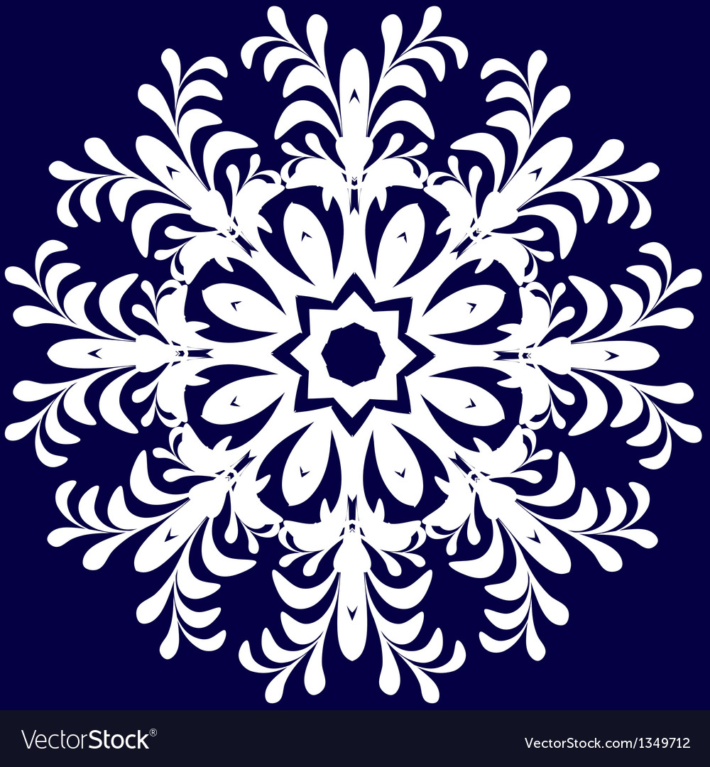 Beautiful lace pattern the circular background vector   Price: 1 Credit (USD $1)