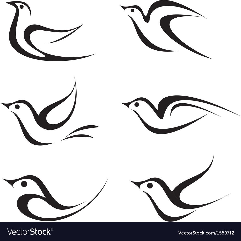 Bird icons vector | Price: 1 Credit (USD $1)
