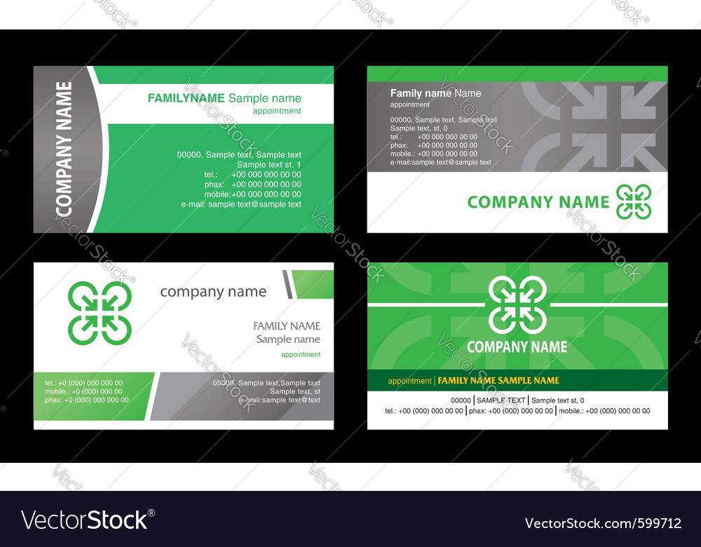 Cards stock business vector | Price: 1 Credit (USD $1)