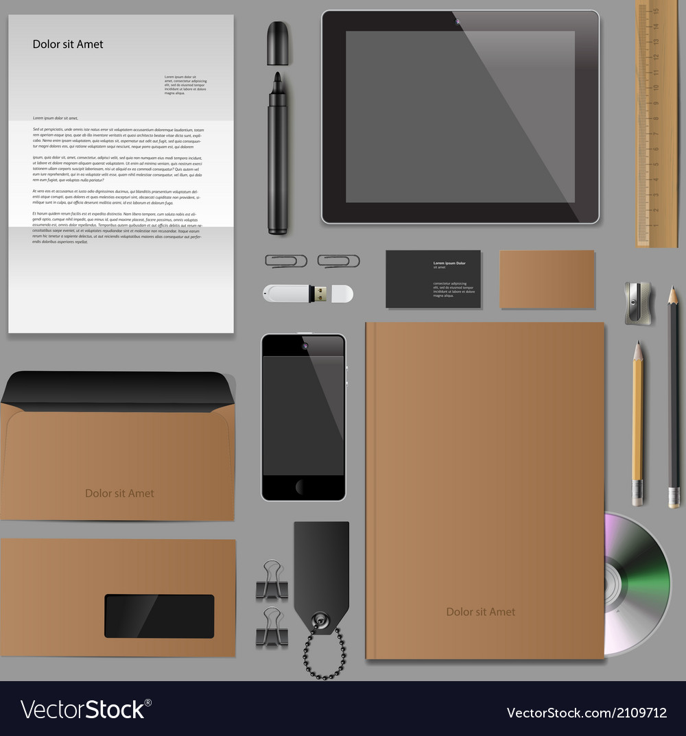 Corporate identity mock-up classic style vector | Price: 1 Credit (USD $1)