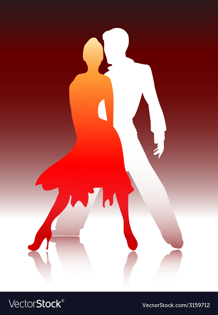 Couple dancing vector | Price: 1 Credit (USD $1)