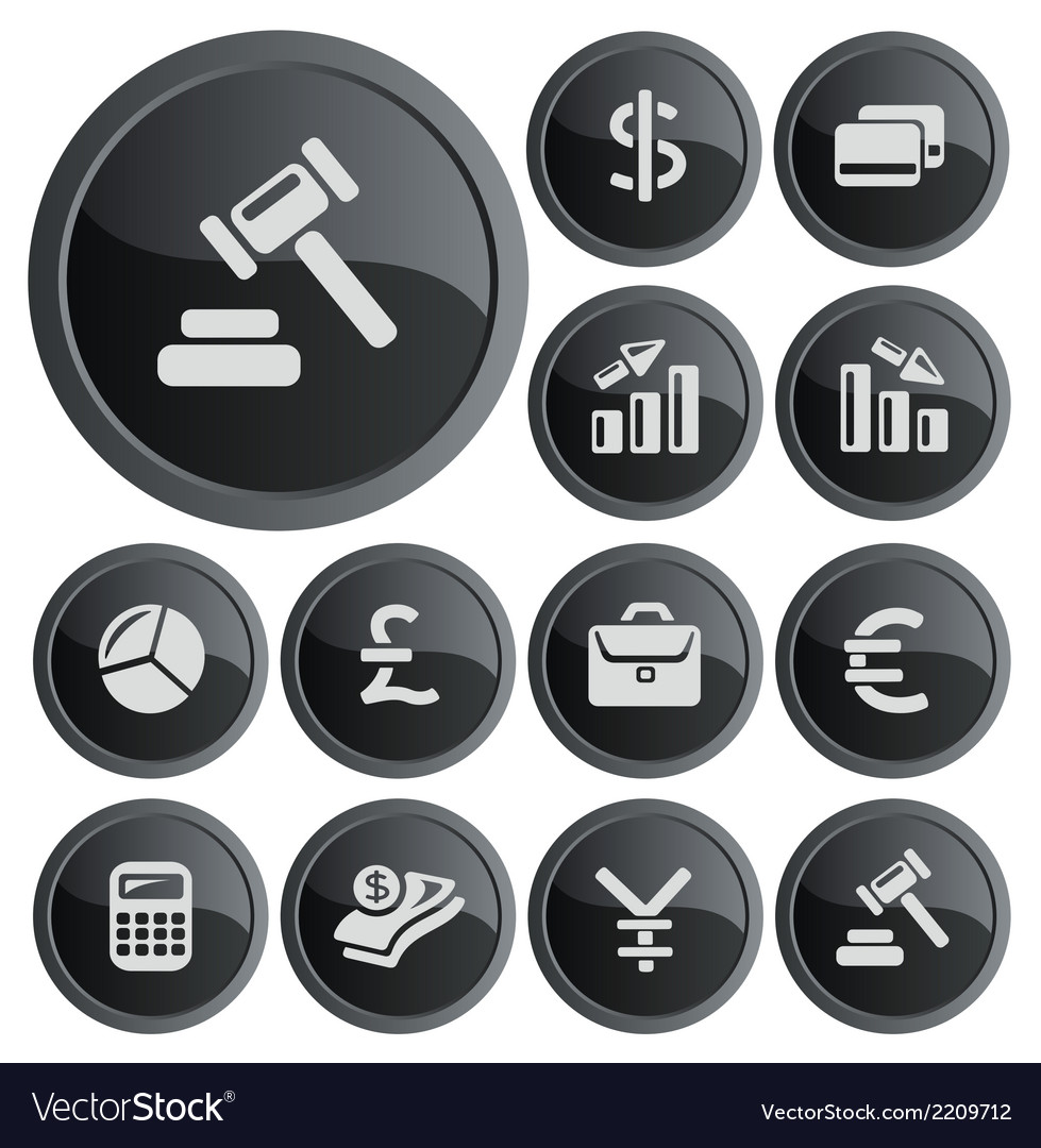Finance buttons vector | Price: 1 Credit (USD $1)