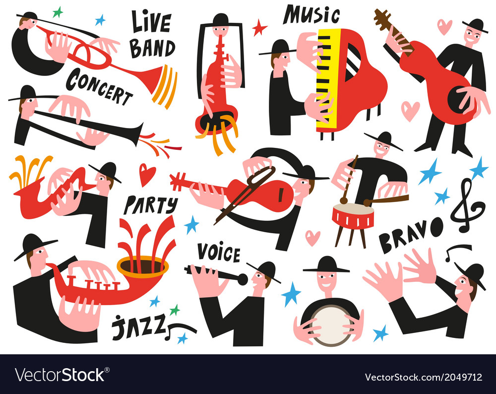 Jazz musicians - vector | Price: 1 Credit (USD $1)