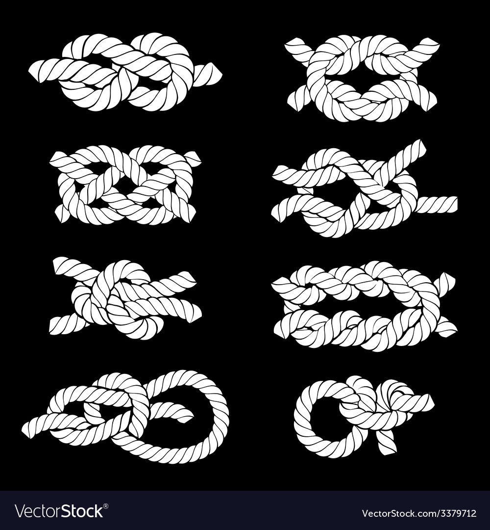 Rope knots icons vector | Price: 1 Credit (USD $1)