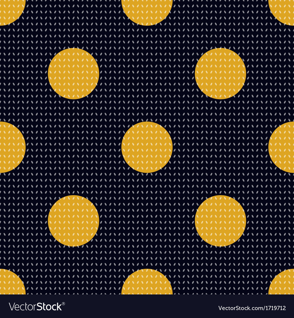 Seamless polka dots textured pattern vector | Price: 1 Credit (USD $1)
