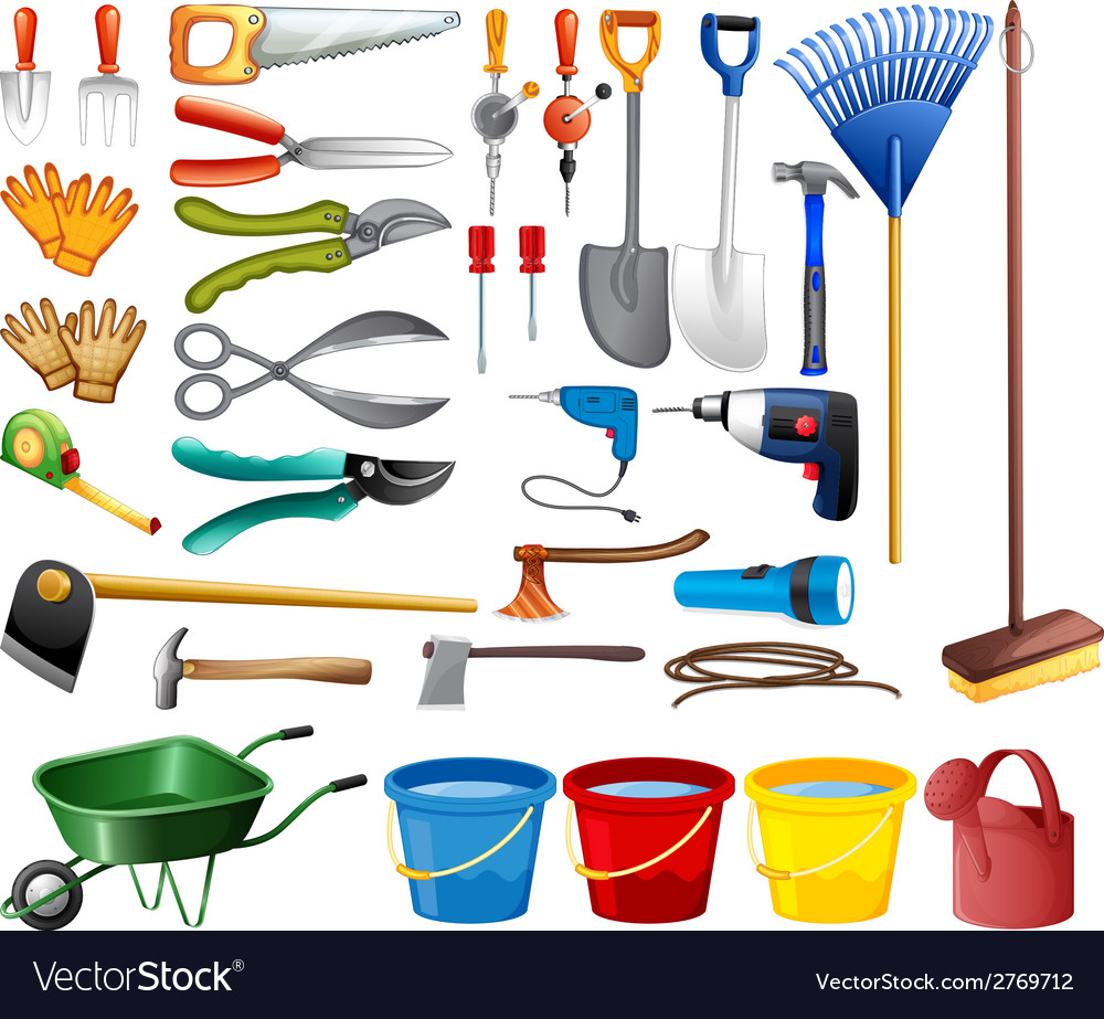 Set of tools vector | Price: 1 Credit (USD $1)