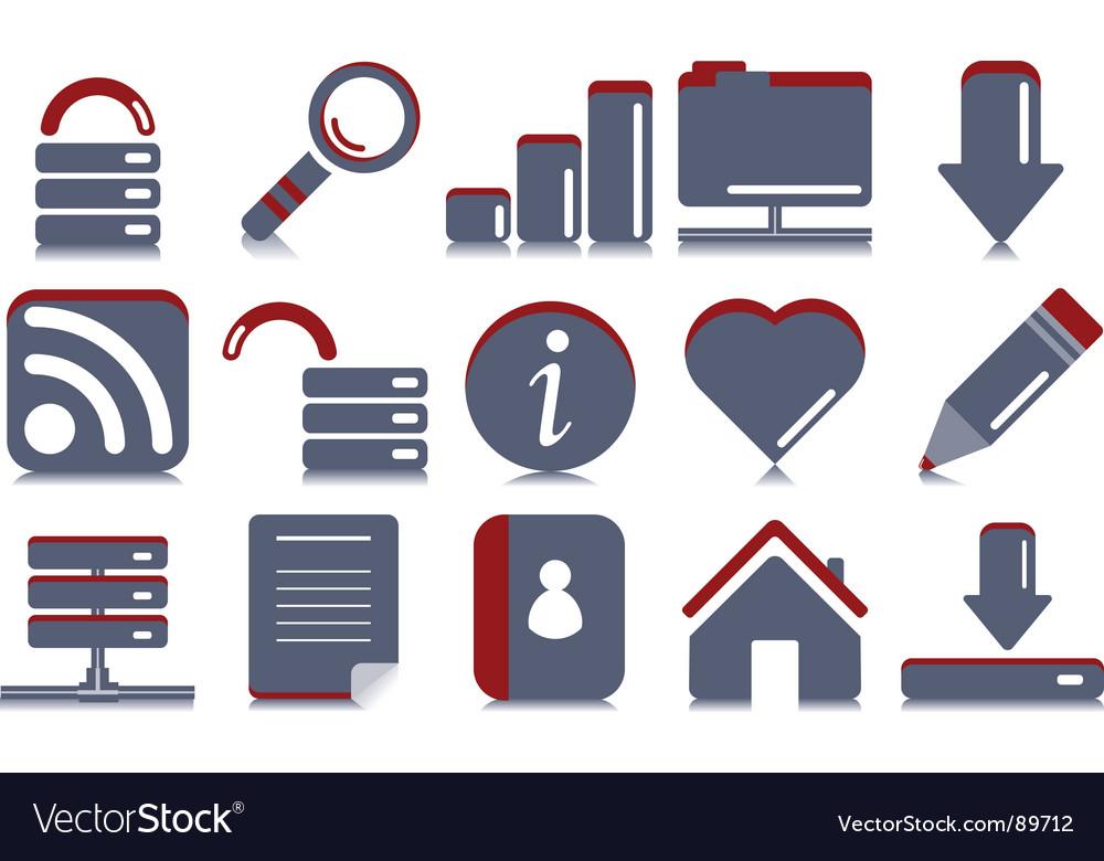Website internet icons vector | Price: 1 Credit (USD $1)