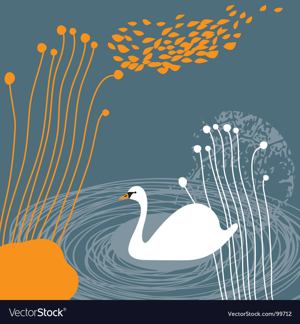White swan vector | Price: 1 Credit (USD $1)
