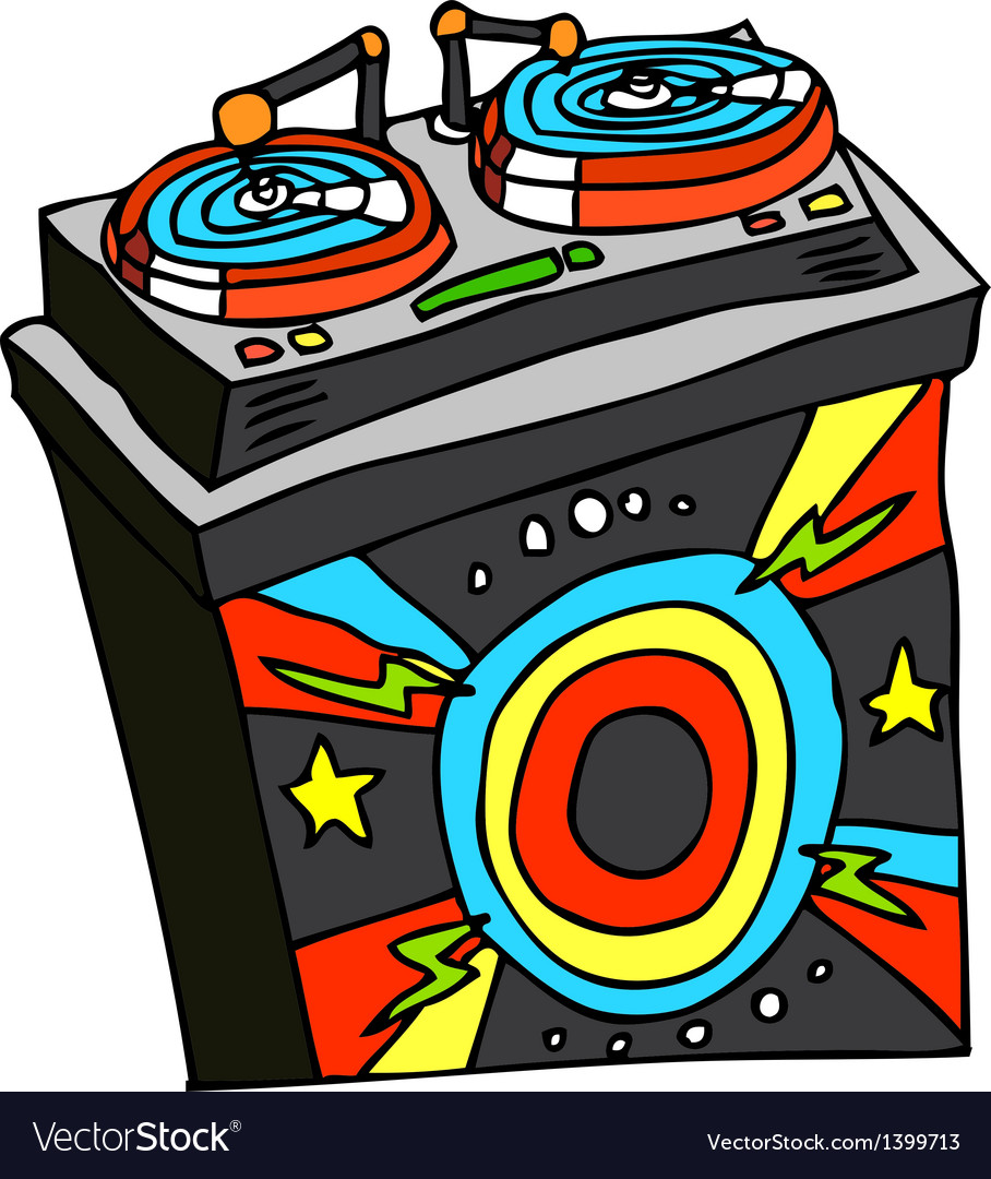 A record player is placed vector   Price: 1 Credit (USD $1)