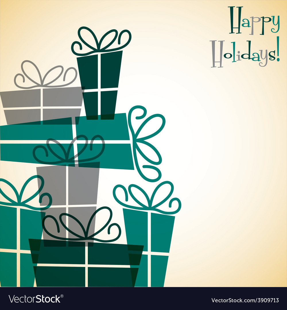 Christmas present overlay card in format vector | Price: 1 Credit (USD $1)