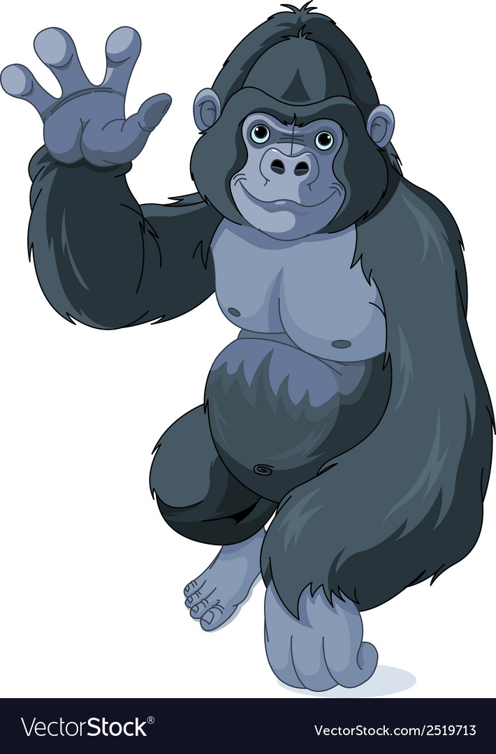 Gorilla vector | Price: 1 Credit (USD $1)