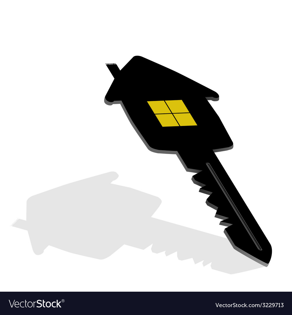 Key with house on it vector | Price: 1 Credit (USD $1)