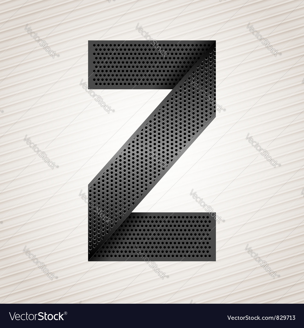 Letter metal ribbon - z vector | Price: 1 Credit (USD $1)