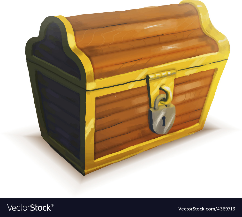 Realistic icon of treasure chest isolated vector | Price: 3 Credit (USD $3)