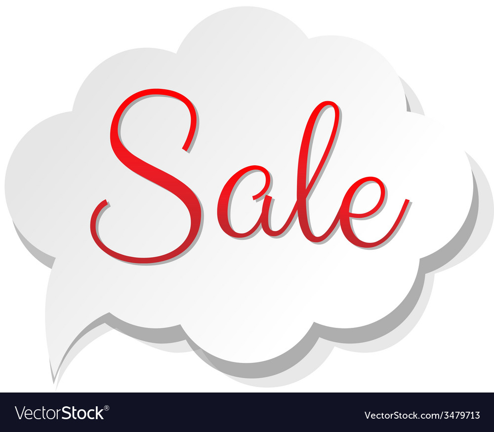 Sale banner cloud vector | Price: 1 Credit (USD $1)