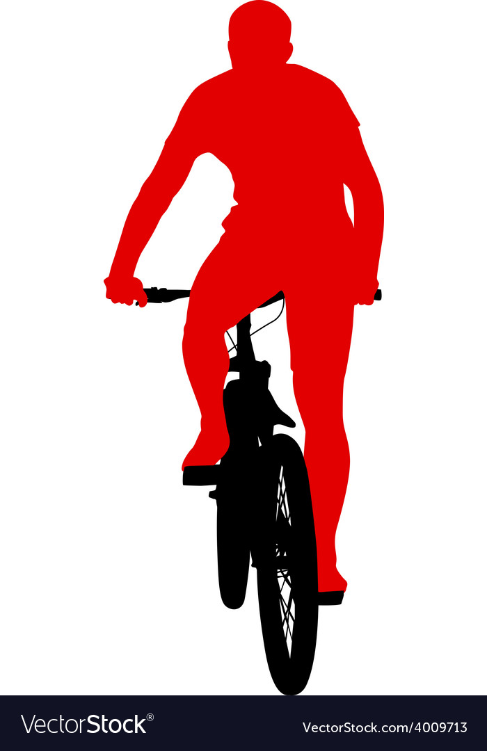 Silhouette of a cyclist male vector   Price: 1 Credit (USD $1)