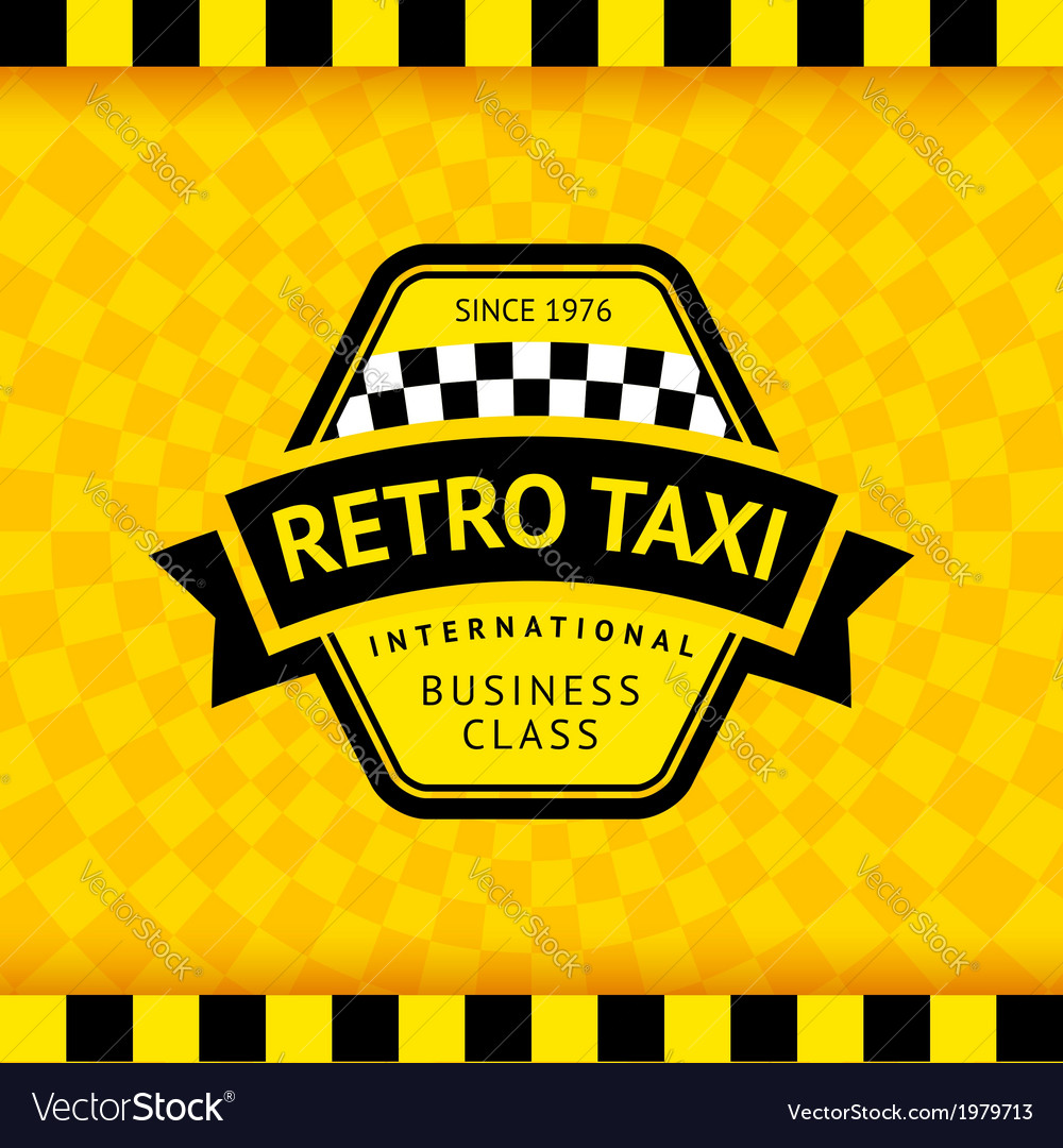 Taxi symbol with checkered background - 17 vector | Price: 1 Credit (USD $1)