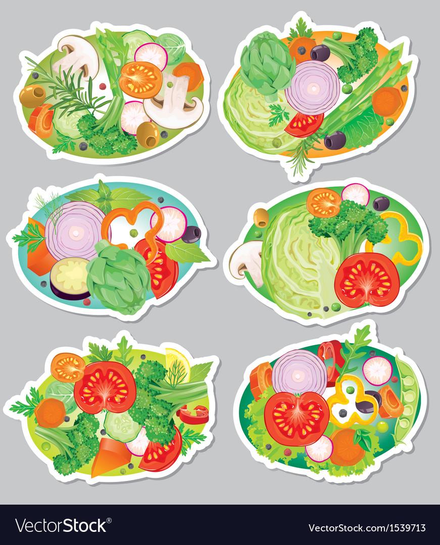 Vegetables sticker vector | Price: 3 Credit (USD $3)