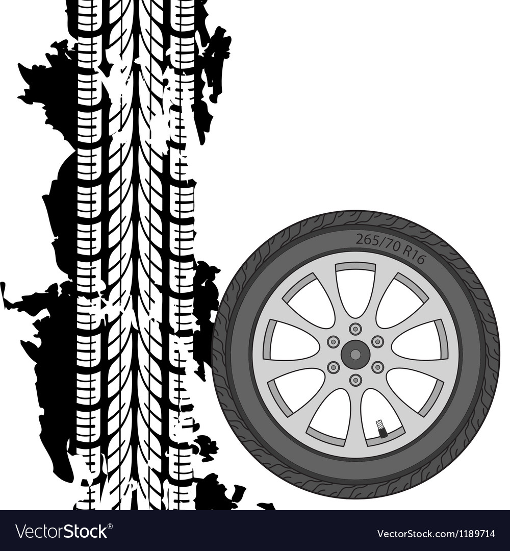 Abstract background tire prints vector | Price: 1 Credit (USD $1)