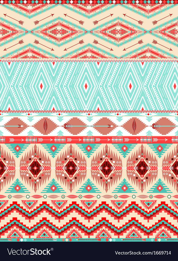 Aztec geometric seamless pattern vector