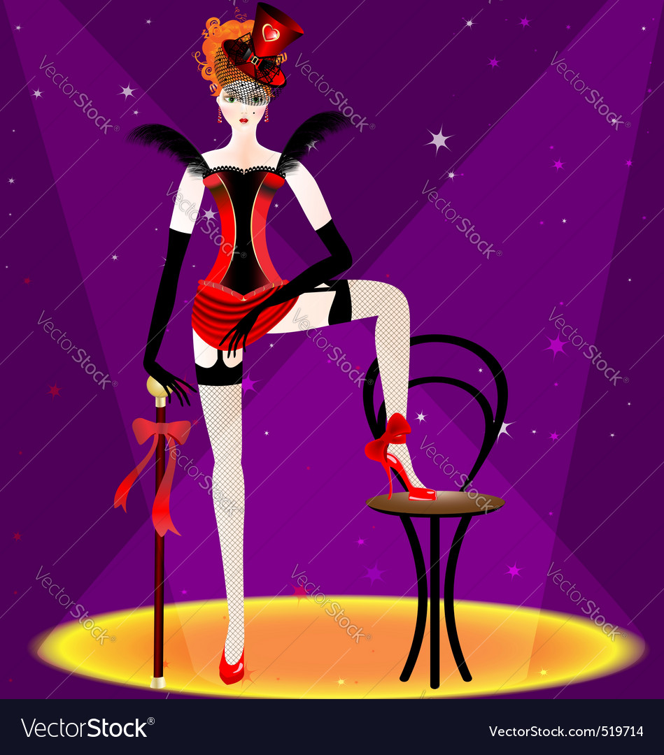 Burlesque dancer vector | Price: 1 Credit (USD $1)