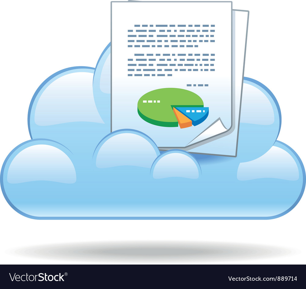Cloud document vector | Price: 1 Credit (USD $1)