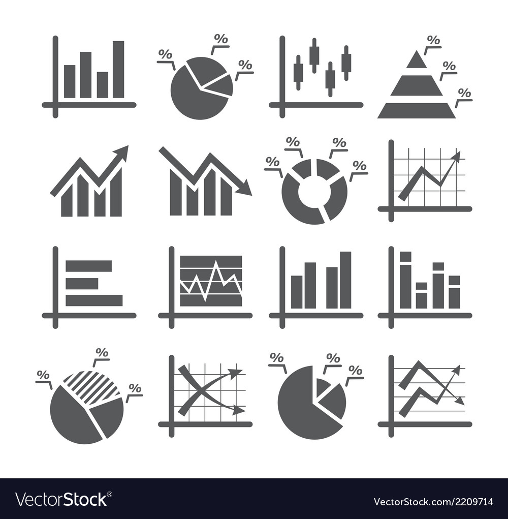 Diagram and graphs icons vector | Price: 1 Credit (USD $1)