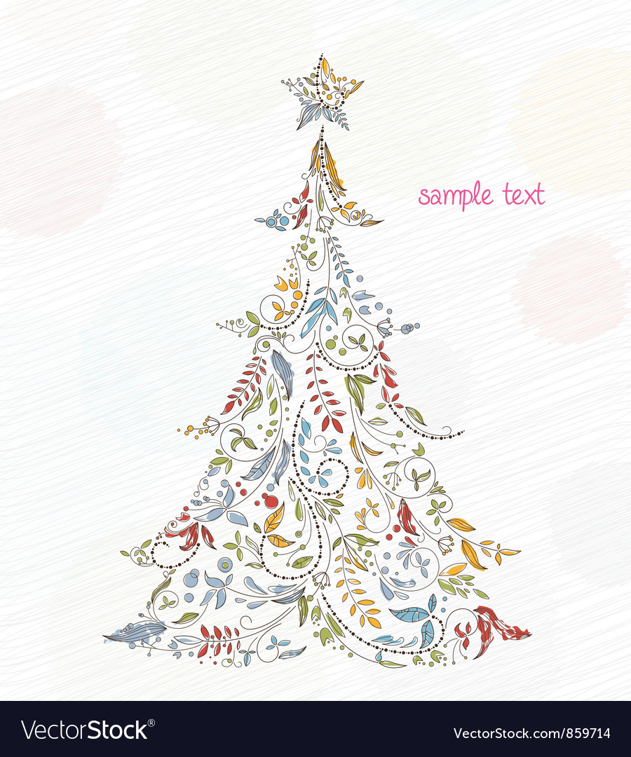 Doodles christmas greeting card vector | Price: 1 Credit (USD $1)