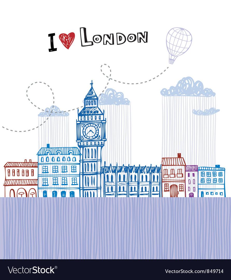 I love london 2 vector | Price: 1 Credit (USD $1)