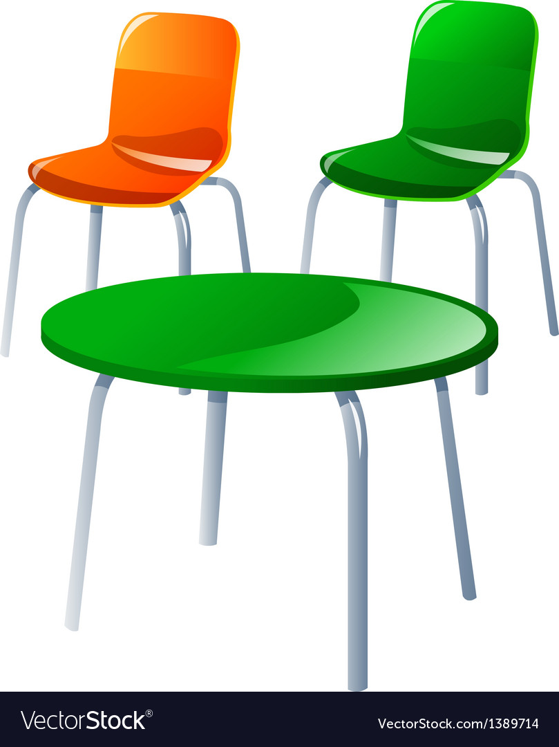 Icon chair and table vector | Price: 1 Credit (USD $1)