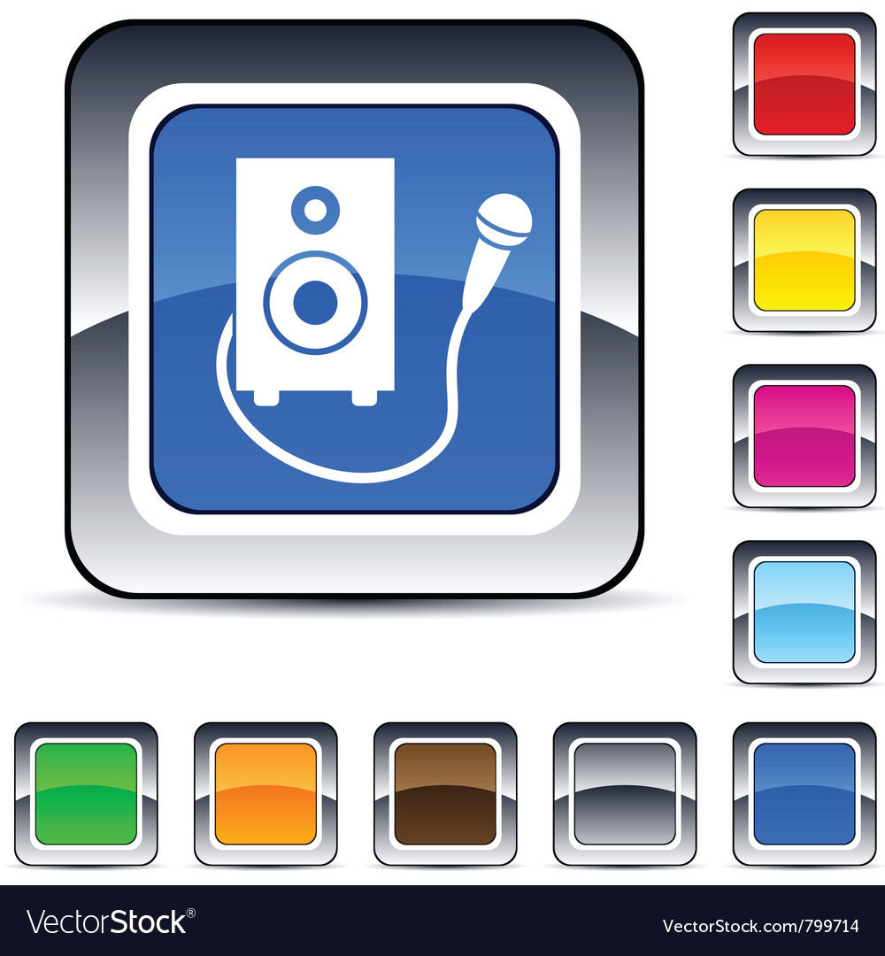 Karaoke square button vector | Price: 1 Credit (USD $1)