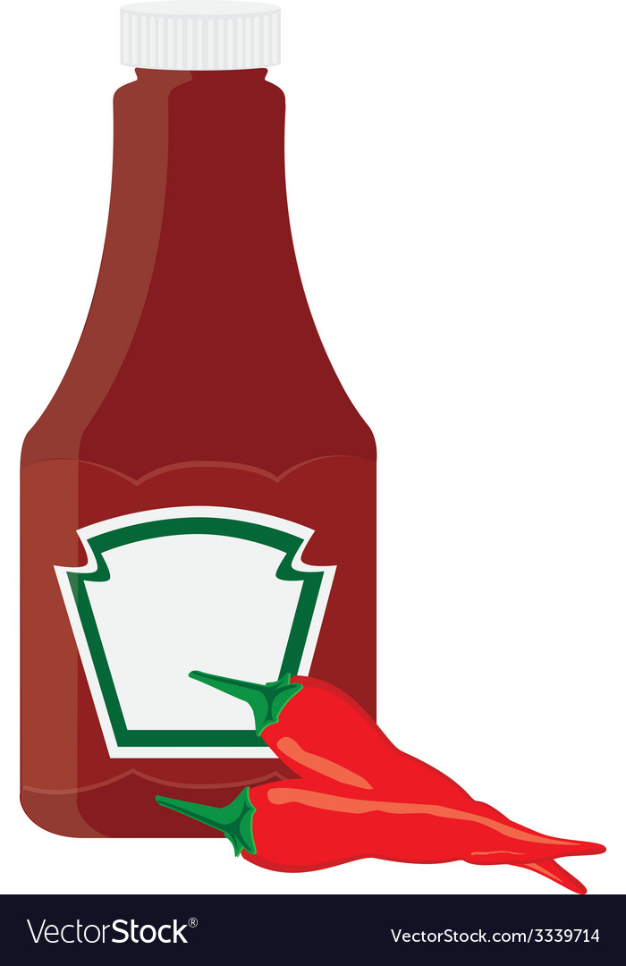 Ketchup bottle and chilli pepper vector | Price: 1 Credit (USD $1)