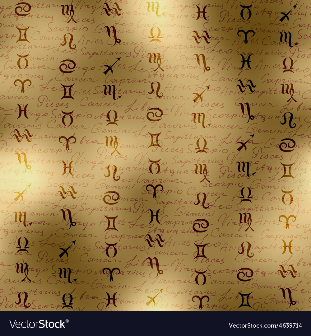 Signs of zodiac on manuscript background vector | Price: 1 Credit (USD $1)