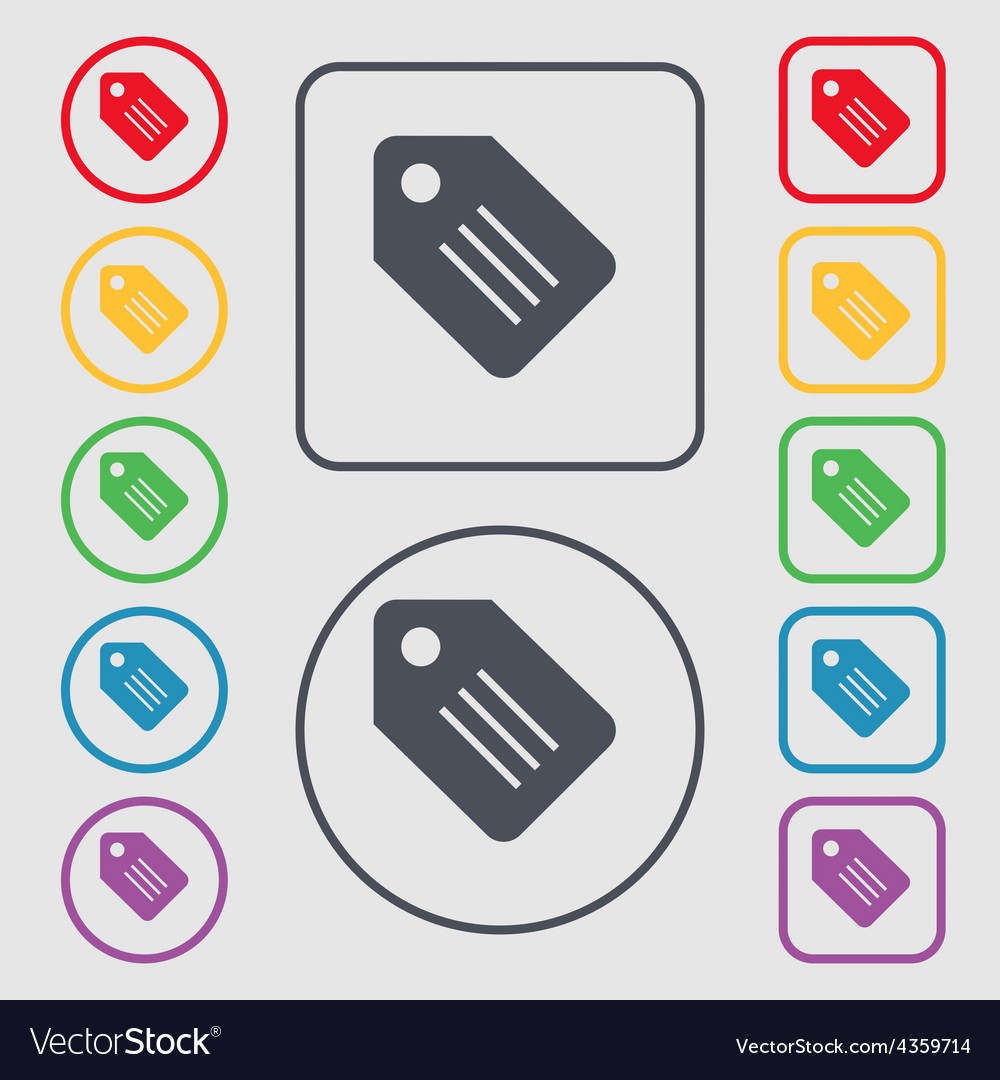 Special offer label icon sign symbol on the round vector | Price: 1 Credit (USD $1)