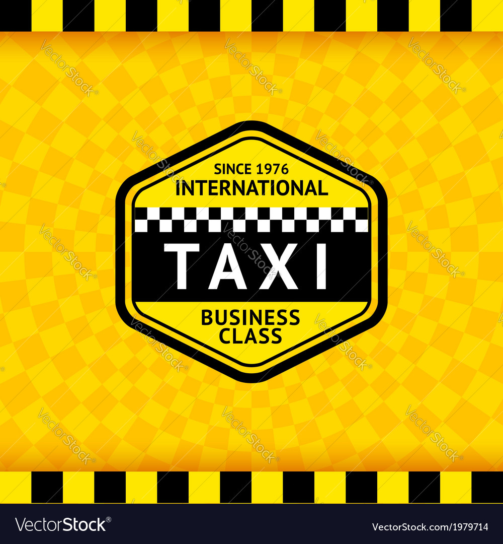 Taxi symbol with checkered background - 18 vector | Price: 1 Credit (USD $1)