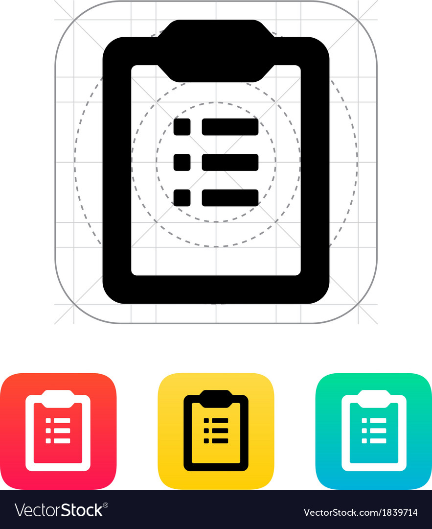 To-do list icon vector | Price: 1 Credit (USD $1)