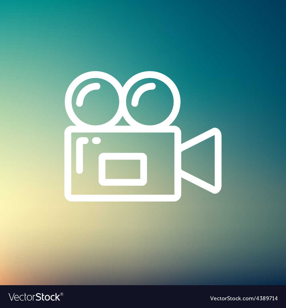 Video camera thin line icon vector | Price: 1 Credit (USD $1)