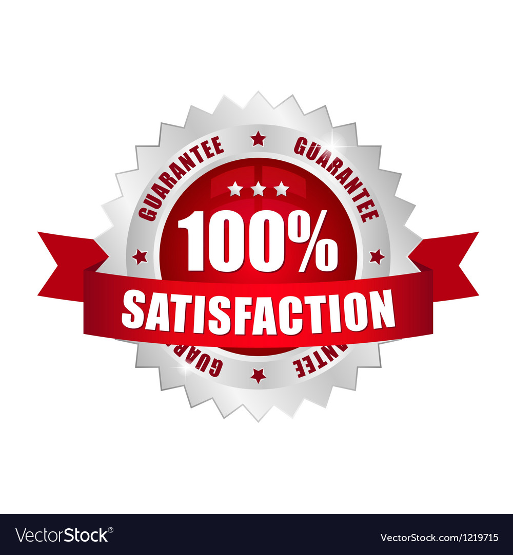 100 prozent satisfaction button vector | Price: 1 Credit (USD $1)