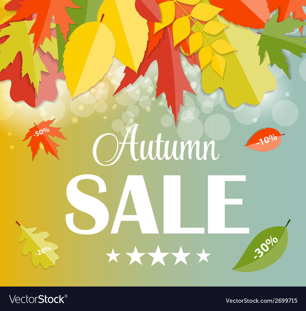 Autumn sale concept vector   Price: 1 Credit (USD $1)