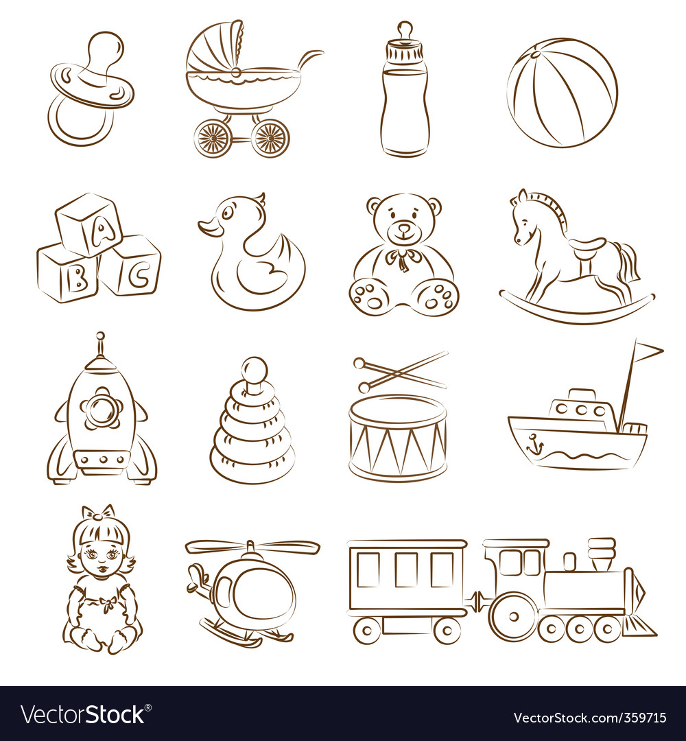 Babies toys vector | Price: 1 Credit (USD $1)