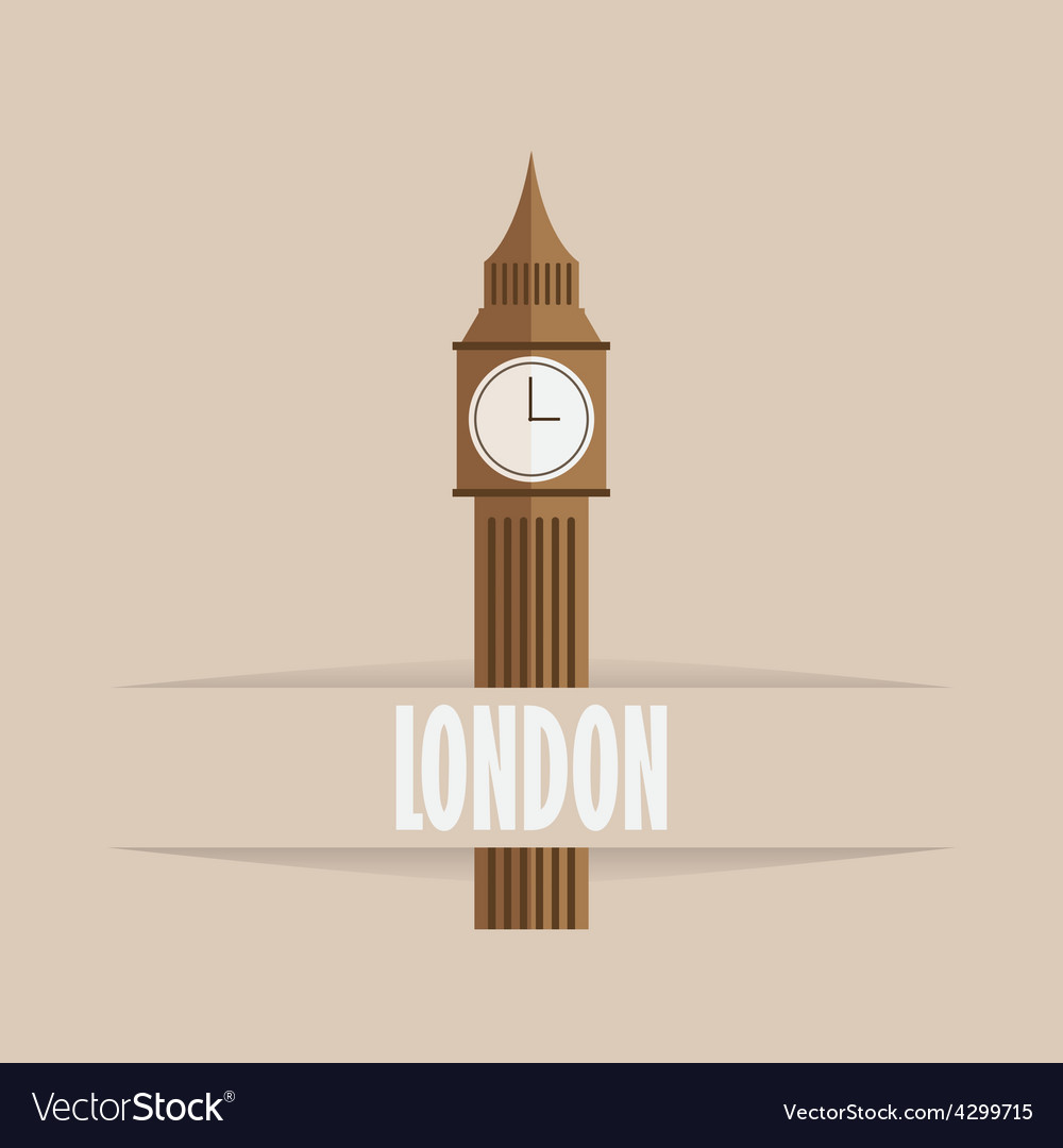 Big ben icon vector | Price: 1 Credit (USD $1)