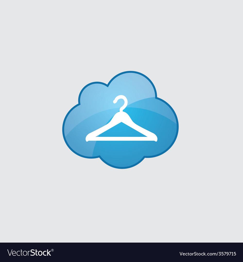 Blue cloud hanger icon vector | Price: 1 Credit (USD $1)