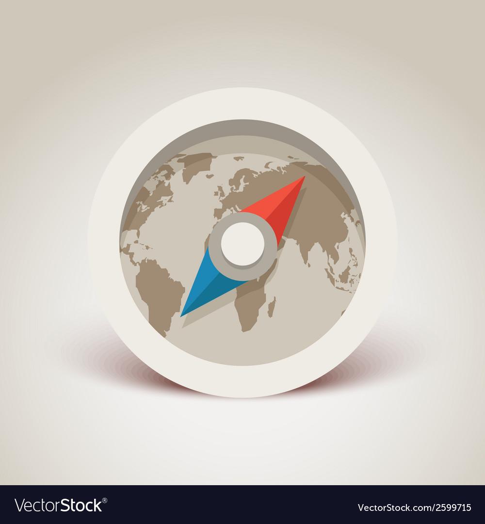 Compass retro design vector | Price: 1 Credit (USD $1)