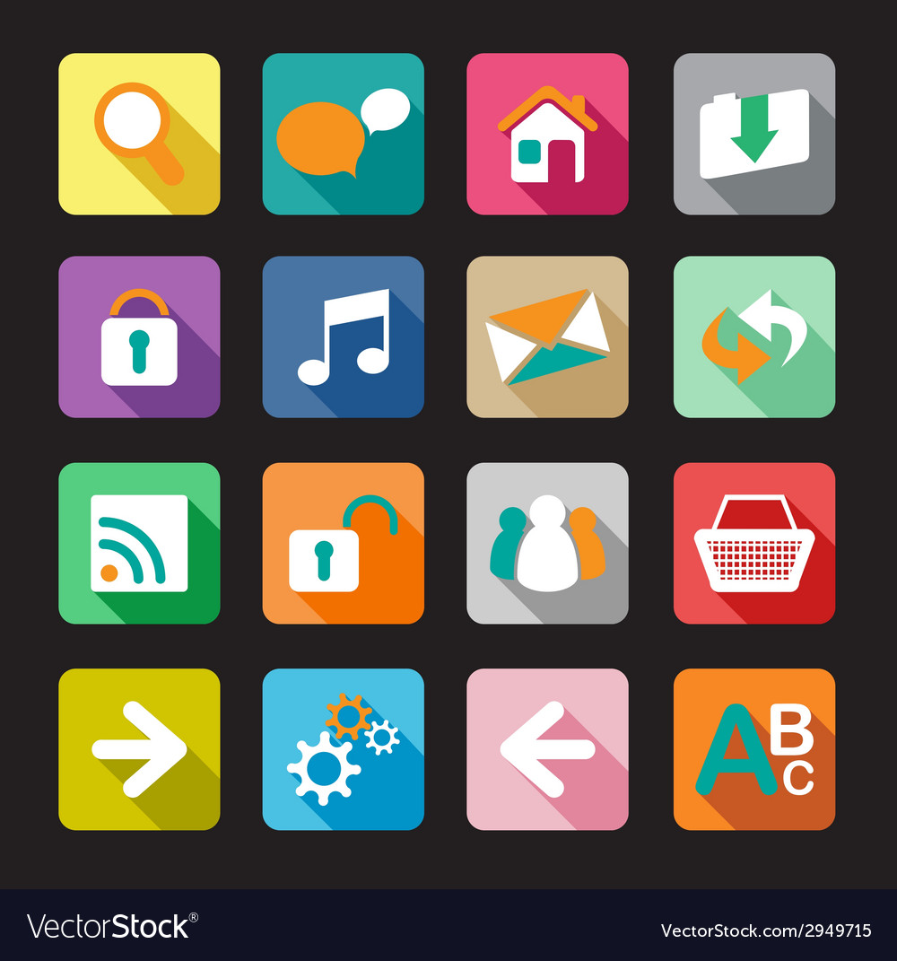 Flat web signs vector | Price: 1 Credit (USD $1)