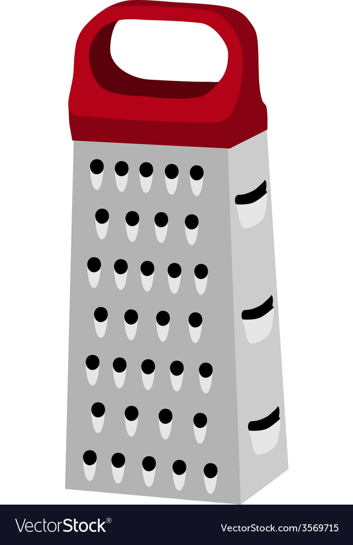 Grater with red handle vector | Price: 1 Credit (USD $1)